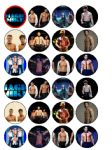 24 Magic Mike Edible Wafer Rice Cup Cake Toppers